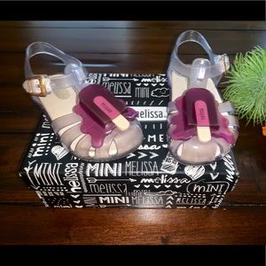MINI MELISSA POPSICLE JELLY SANDALS CLEAR PURPLE 7